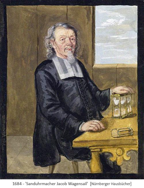 Buchmalerei: Sanduhrmacher Bruder Jacob - 1684, Nürnberg