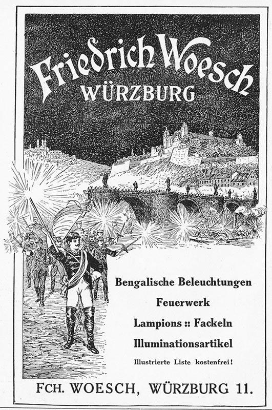 Reklame für Feuerwerke