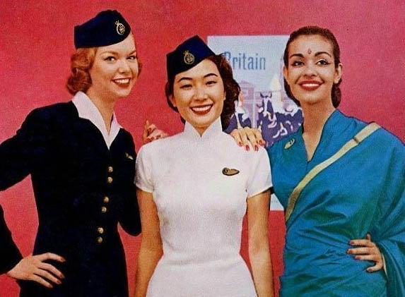 drei Stewardessen