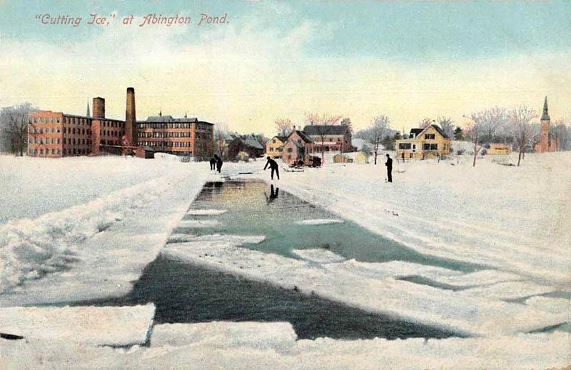 kolorierte AK: Eisschneider vor der Stadt