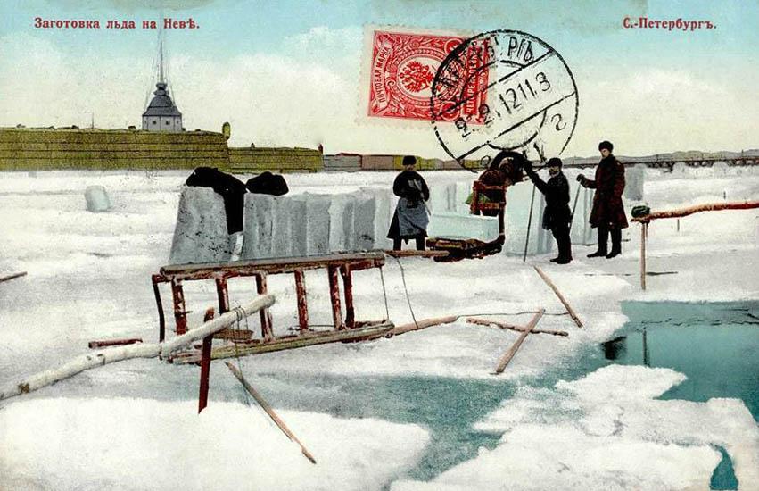 AK: Männer haben Eisblöcke aus zugefrorenem Fluss gelöst