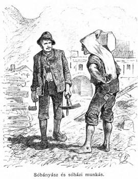 sw-illu: zwei Arbeiter mit Werkzeug und Last