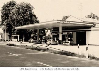 sw Foto: Erste deutsche Selbstbedienungs-Tankstelle - 1972, Lagerlechfeld