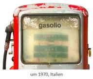 Farbfoto: Zapfsäulen-Kopf ~1970, Italien