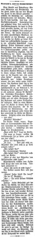 Anekdote in Zeitung