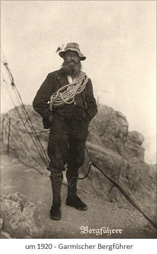 sw Foto: Garmischer Bergführer ~1920