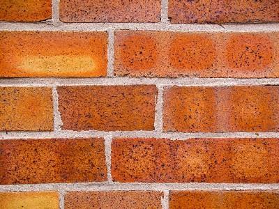 Wand aus Backsteinen
