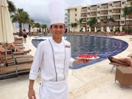 Dreams Riviera Cancun sushi around the pool
