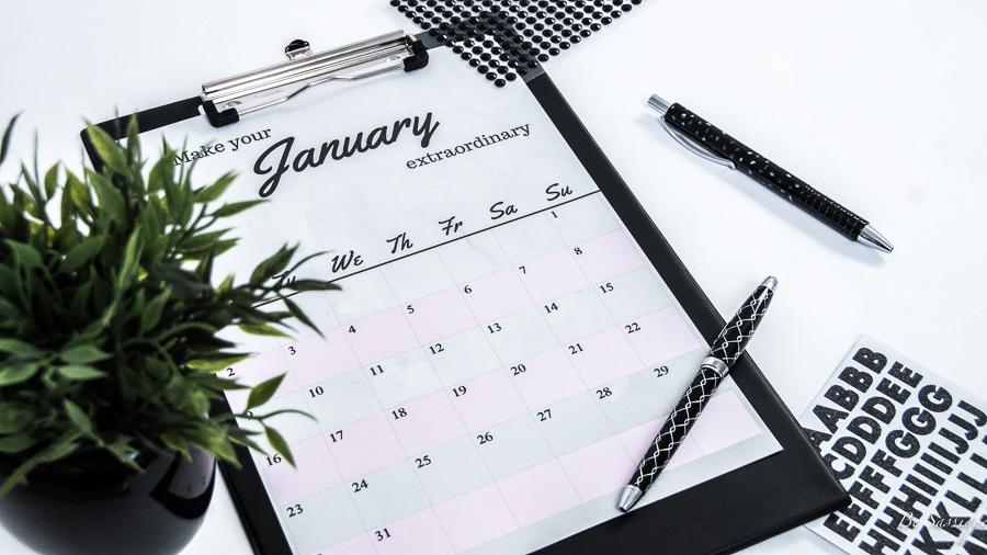 So hältst du endlich deine Vorsätze + Kalender-Download