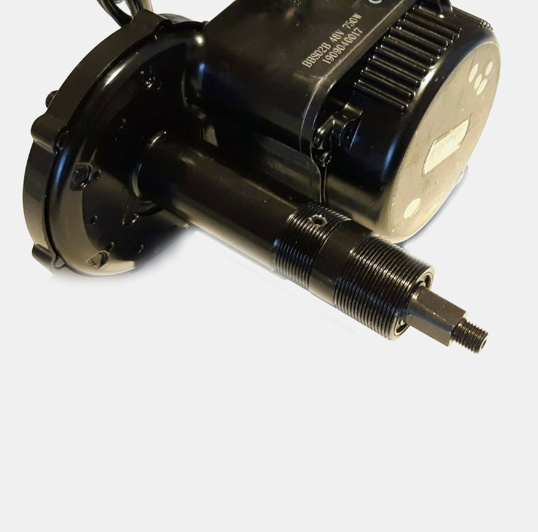 Motor with nut and bolt