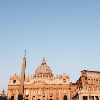 Vatikan Vatikanstadt st Peter dom rom papst sunset
