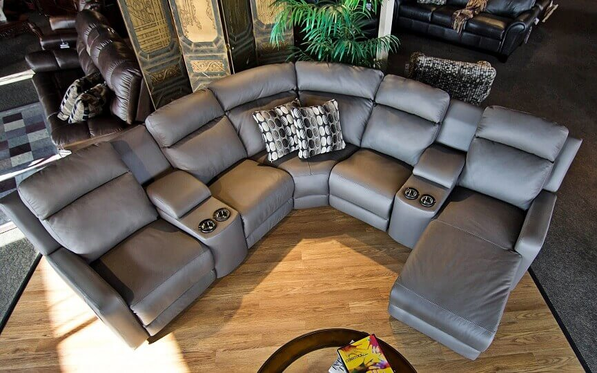 reclining leather sectionals be