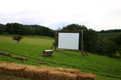 Open-Air-Kino auf dem Bauernhof