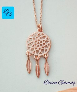 Taşsız Düş Kapanı Dream Catcher Kolye