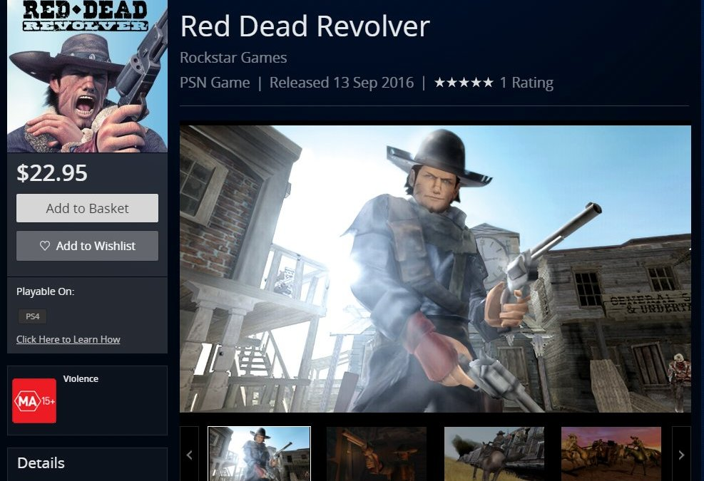لعبة Red Dead Revolver باتت متوفرة على متجر PSN