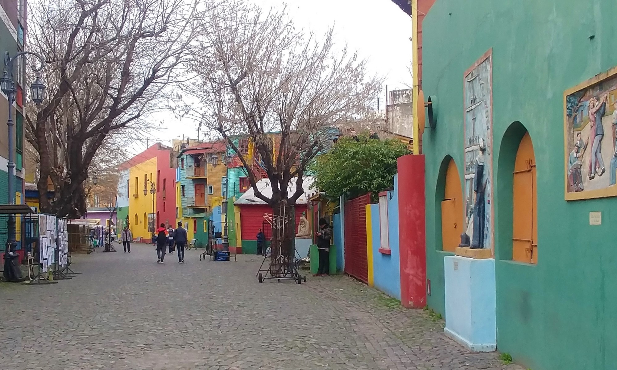 Buenos Aires, Argentina – September 11, 2019: Colorful streets in Boca neighbourhood.