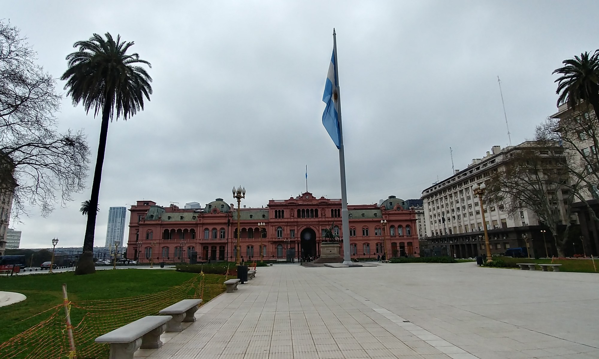 Buenos Aires, Argentina – September 11, 2019: Casa Rosada view in Mayo Square.