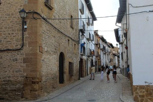 A street in La Iglesuela del Cid
