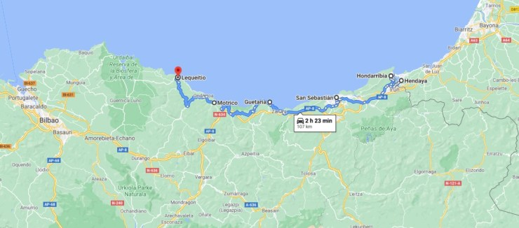 From Hendaye to Lekeitio: our proposed route along the Basque Coast
