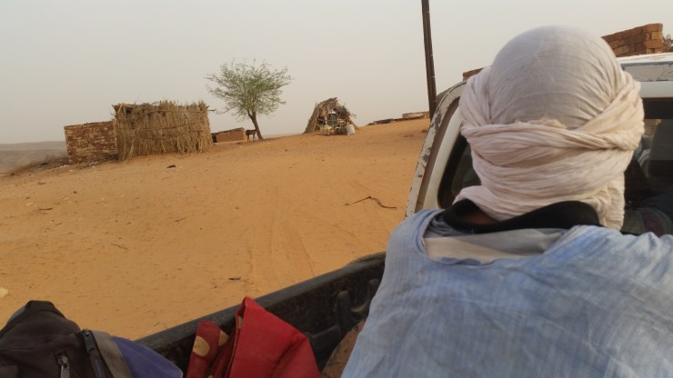 On a truck in Mauritania