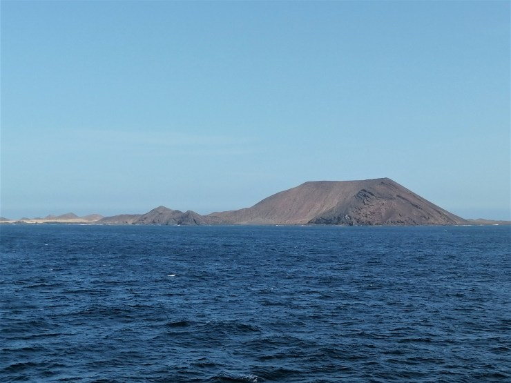 Isla de Lobos from the Ocean