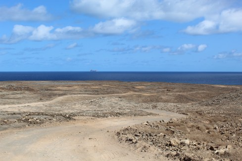 Road conditions on La Graciosa