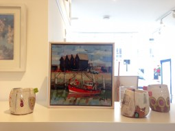 'Harbour' by Anne-Marie Butlin with ceramics by Linda Styles