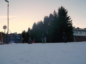 na sanki z dziećmi w Szczyrku