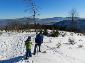 Beskidy z dziećmi zimą