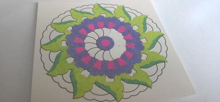 Malování barevným pískem