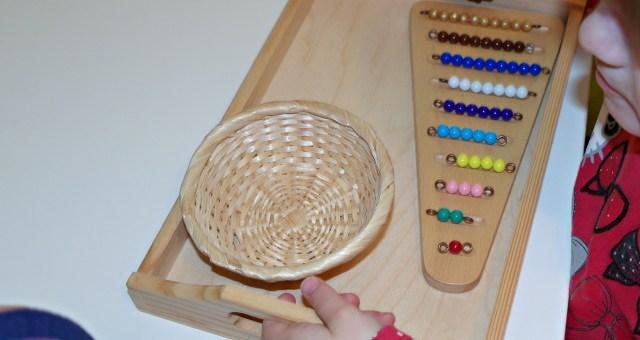 Korálkové schody Montessori