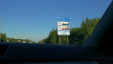 Vjíždíme do Běloruska
