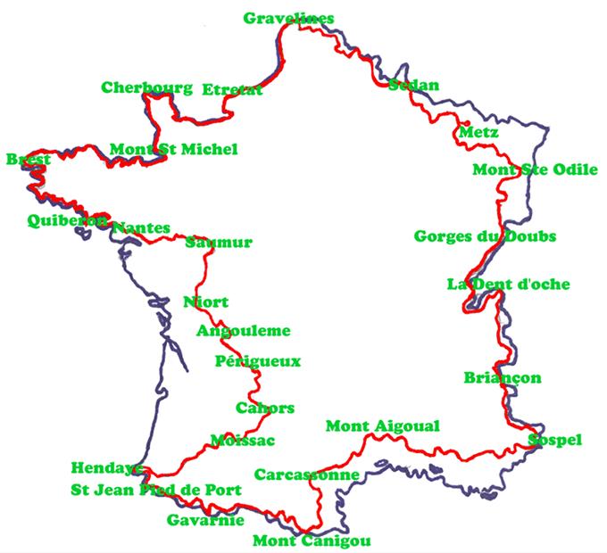 Le tour de la France à pied
