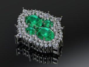 Emerald brooch 2