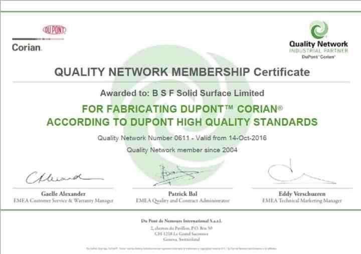 Corian Quality Network