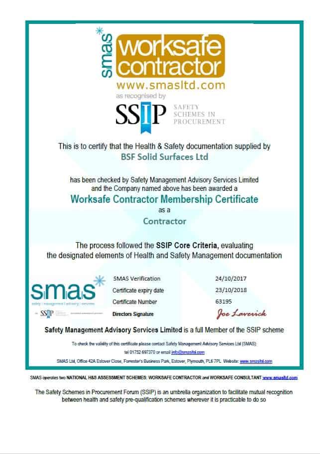 SMAS Certificate