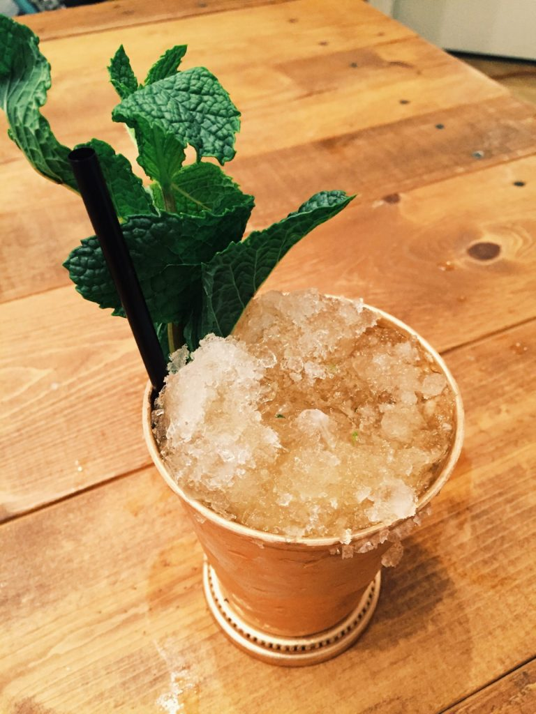 The finished mint julep