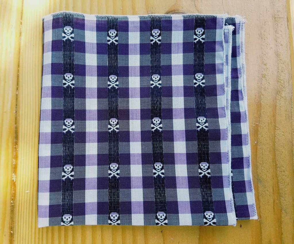 purple summer pocket squares