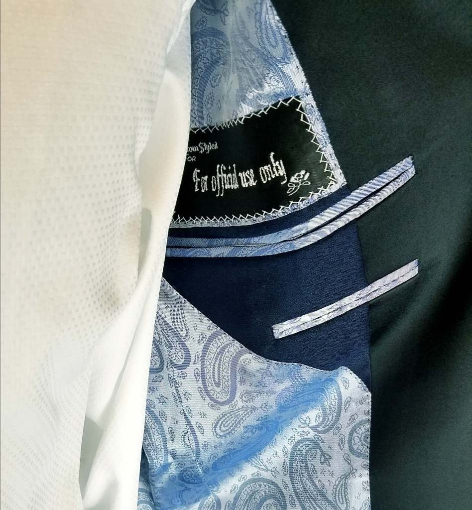 the jacket lining on a fun tuxedo
