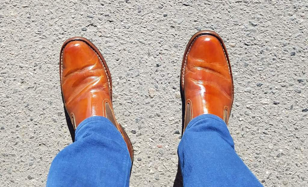 the best shoe shine in Denver is at the shoe care company