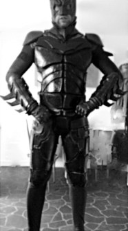 One shiny Batman build by Mr.Bespoke! One of our earliest builds, this one with a foam construction. Image copyright of Bespoke Fantasy Costumes.