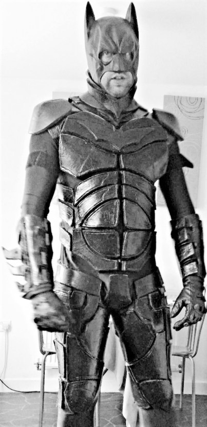 Batman ready again! Each piece was individually cut for this costume, all made by hand, by Mr.Bespoke himself. Image copyright of Bespoke Fantasy Costumes.