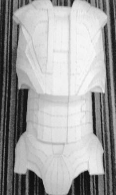 Hard armour build in progress. Image copyright of Bespoke Fantasy Costumes, 2016.