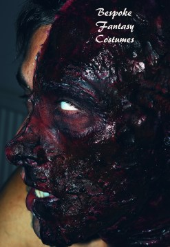 'Charred alive' Make-up and special effects by Mr.Bespoke of Bespoke Fantasy Costumes, 2016. Photography by Rose-Sky Journey Pieces.