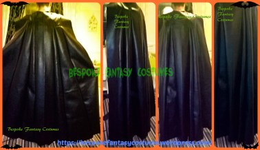 Batman cape. Custom-designed, and hand-made by Bespoke Fantasy Costumes. Photography by Bespoke Fantasy Costumes. Copyright 2016.