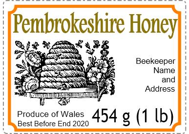 Small honey label