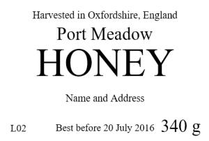 Port Meadow honey label