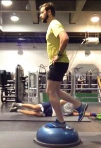 Running strength Exercise - Single Leg Balance. Bespoke Physiotherapy Covent Garden London