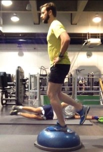 Running strength Exercise - Single Leg Balance. Bespoke Physiotherapy Covent Garden London