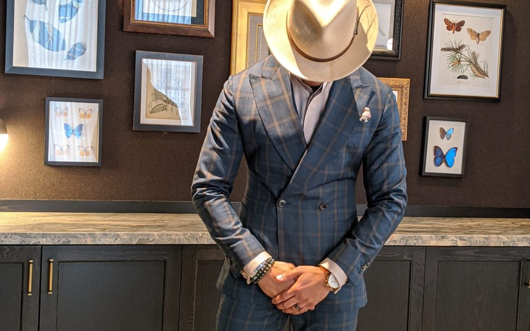 How to Wear an Olive/Sage Double-Breasted Suit
